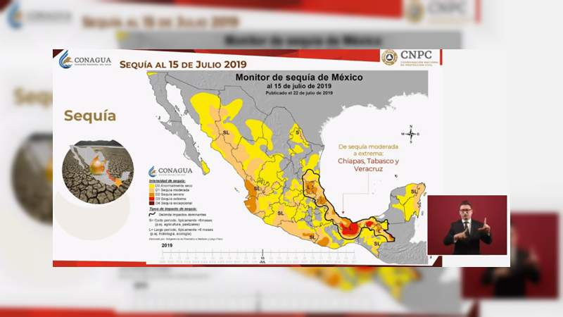 Hay una sequía moderada en México: Conagua