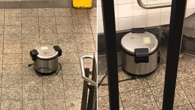 Localizan ollas de presión en estación del metro de Nueva York
