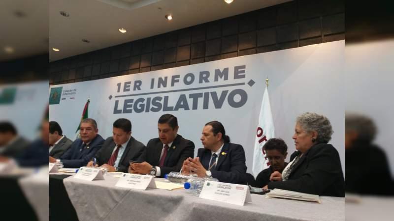 Logros presidenciales, la tónica del Primer Informe de legisladores federales de Morena