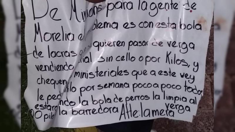 Tiran cuerpo decapitado en Morelia, Michoacán