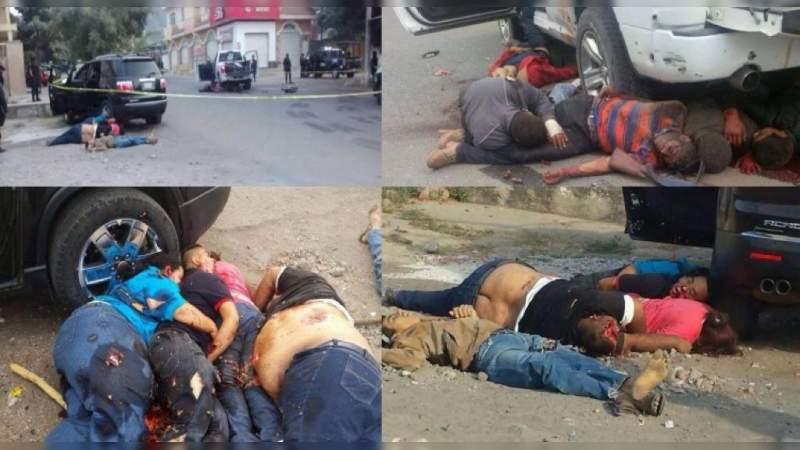 La matanza en Apatzingán, Michoacán en 2015