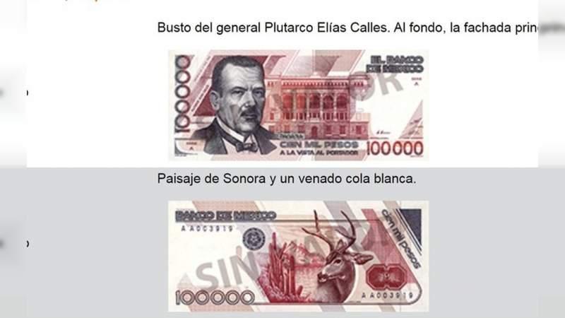 Éste es el billete de mayor denominación que ha existido en nuestro país