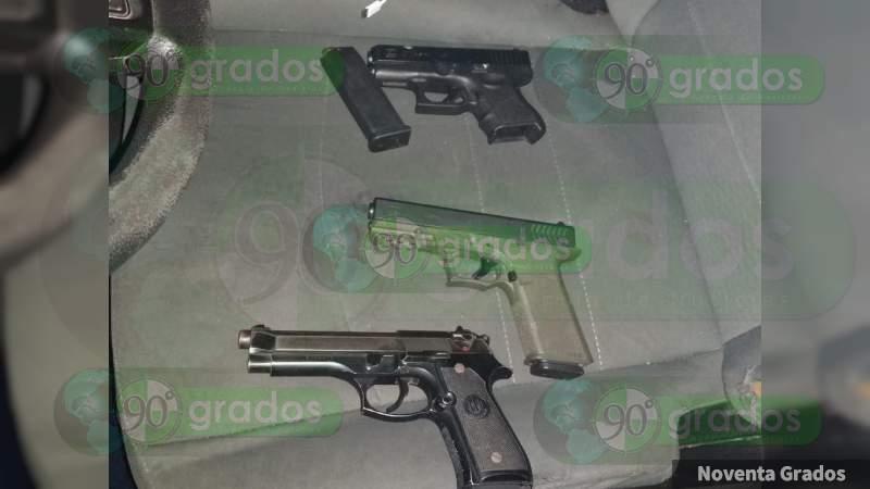 Detienen a cuatro sujetos que pretendía  secuestrar a una familia en Morelia, Michoacán