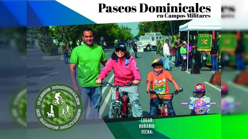 XXI Zona Militar invita a que asista al paseo dominical en Zamora, Michoacán