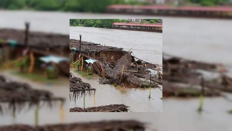 248 viviendas afectadas por el paso de Narda en Jalisco