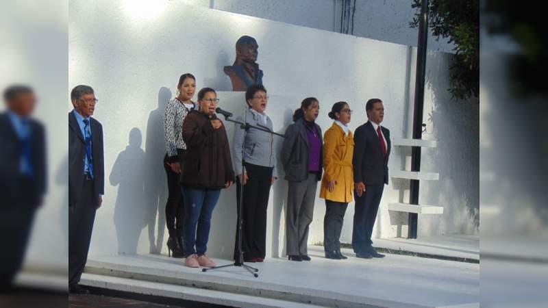 El IMCED rindió tributo a Morelos