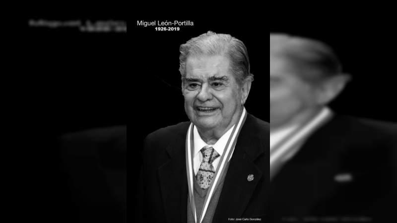 Murió a los 93 años Miguel León-Portilla