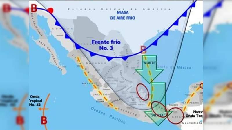 Frente frío número 3 ingresó al norte de Coahuila