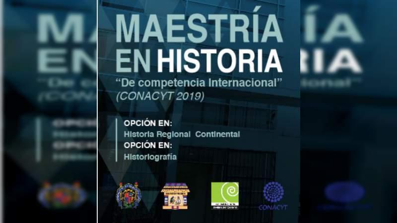 Abierta convocatoria para Maestría en Historia en la UMSNH