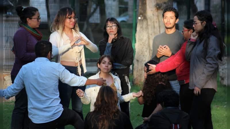 En la Bibliotequita del Bosque inició la Autocapacitación de Psicólogos Michoacanos