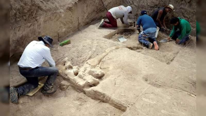 Hallan restos de un mastodonte de más de 10,000 años en Puebla
