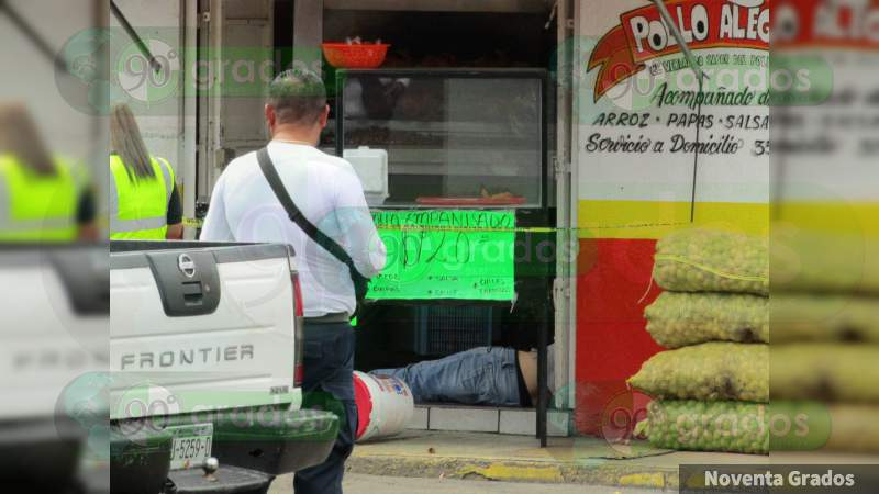 Ultiman a balazos al dueño de una pollería en Zamora, Michoacán