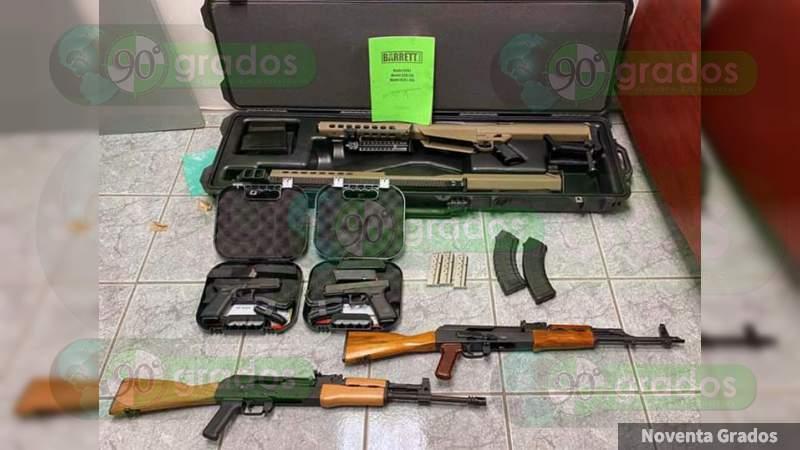 Estadounidense de 14 años intenta ingresar fusil calibre .50 a México