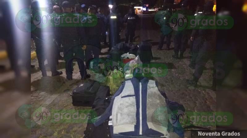 Desalojan de hotel a elementos de la Policía Michoacán que se hospedaban en Jacona