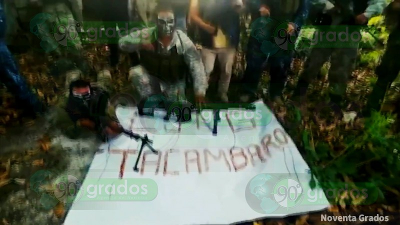 Cartel Jalisco anuncia su llegada a Tacámbaro