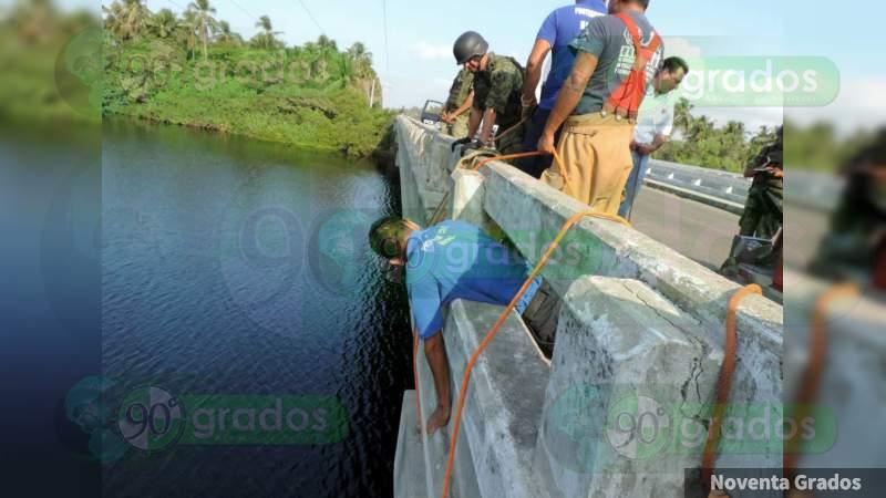 Menor cae de puente a un área de cocodrilos en Lazaro Cárdenas, Michoacán