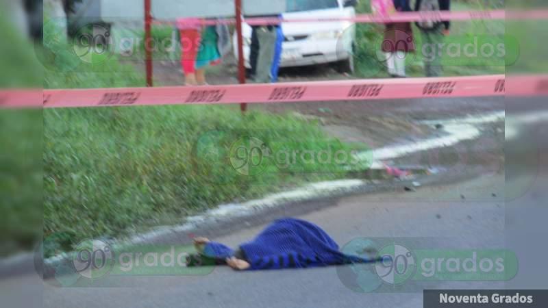 Muere mujer de la tercera edad tras ser atropellada en Zamora, Michoacán