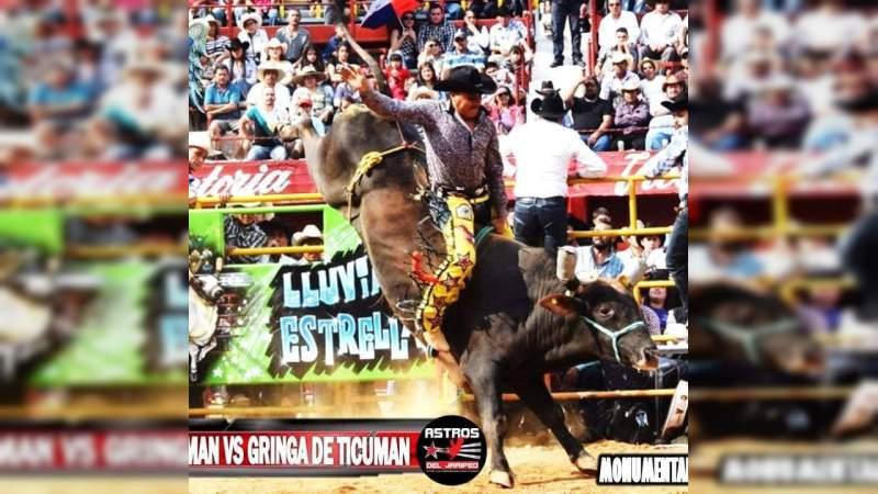 Gringa de Ticumán, campeón del 4° Circuito Santa Mónica de jaripeo profesional