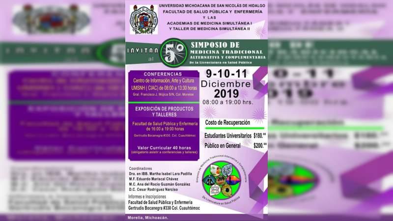 Este 9, 10 y 11 de diciembre Simposio sobre Medicina Tradicional y Alternativa en la UMSNH