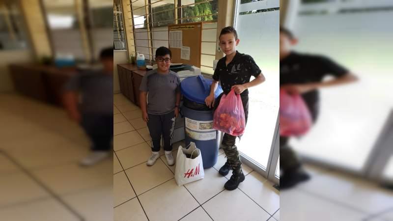 ITM entrega víveres, tapas y alimento para perro