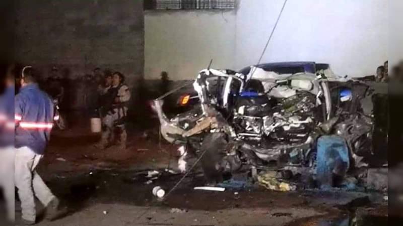 """Con explosión de coche bomba reciben a 150 policías estatales encargados de """"blindar"""" Irapuato"""