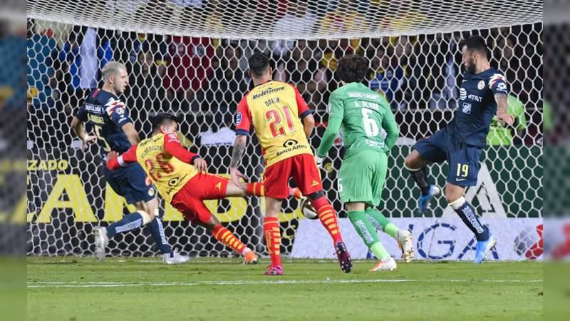 Monarcas derrota al América en la Semifinal de Ida