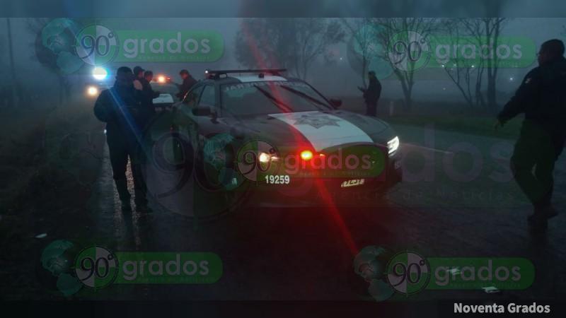 Roban patrulla de la Policía Federal en la carretera Morelia – Pátzcuaro