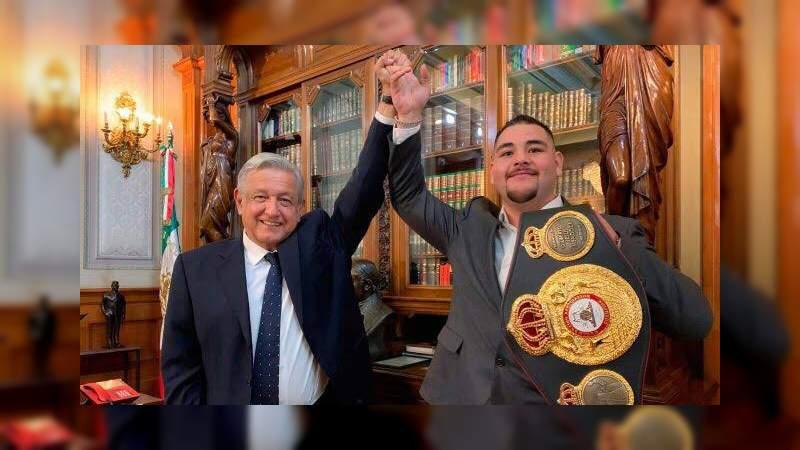 """""""No te tumbaron"""": López Obrador manda mensaje al boxeador Andy Ruíz tras su derrota"""