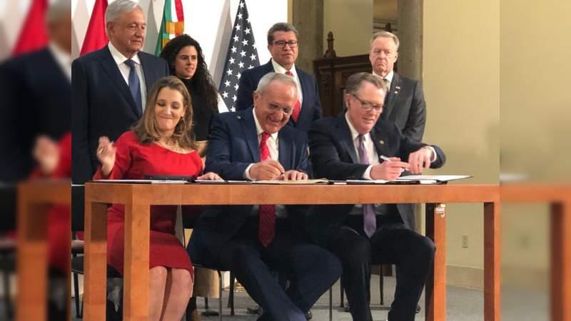 México, EEUU y Canadá firman en Palacio Nacional nuevo Tratado de Comercio