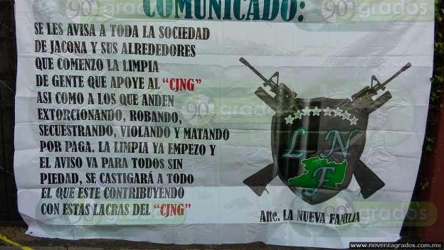 Localizan narcomantas en Zamora y otros municipios michoacanos