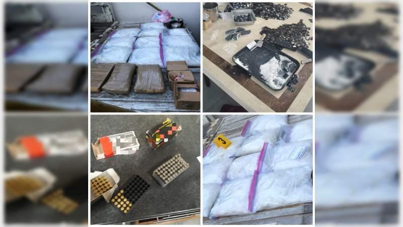 Detienen a cinco en poder de más de 13 kilos de cocaína y metanfetamina, armas y vehículos, en Jalisco