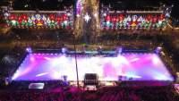 Inauguran pista de hielo sintético en la Ciudad de México
