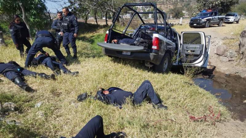 Confirma SSP siete heridos en volcadura de patrulla en Tarímbaro, Michoacán