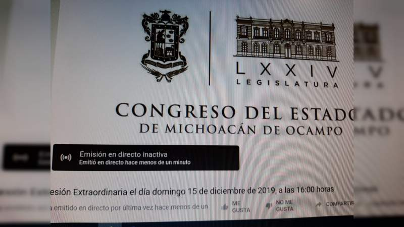 Se cae elección del presidente de la CEDH en el congreso del estado; en segunda votación 'urna embarazada'