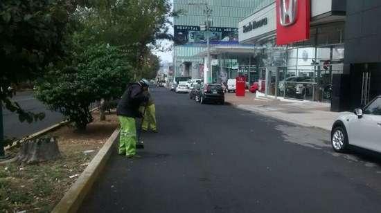 Ayuntamiento de Morelia da mantenimiento a ruta del Papa Francisco