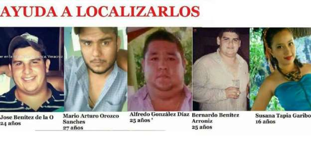 Localizan restos de dos de los cinco jóvenes desaparecidos en Tierra Blanca, Veracruz