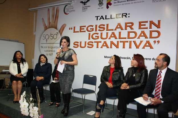 Imparten curso para formar legisladoras con Igualdad Sustantiva, en Michoacán