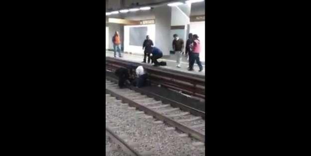VIDEO: Rescatan a joven de suicidarse en las vías del Metro