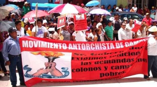 Con manifestación, Antorcha Campesina exige escuelas de tiempo completo