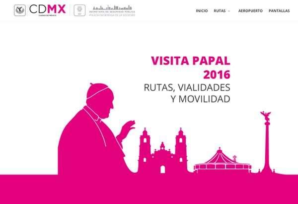 Dan a conocer operativo vial por visita del Papa a la Ciudad de México