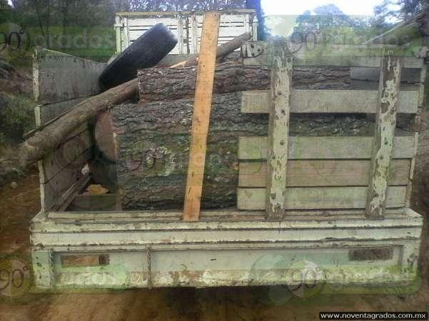 Aseguran vehículos con presunta madera ilícita en Salvador Escalante