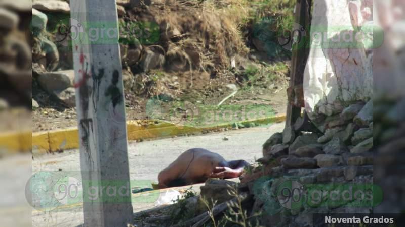 Asesinan a un hombre la tarde de este martes, en Jacona