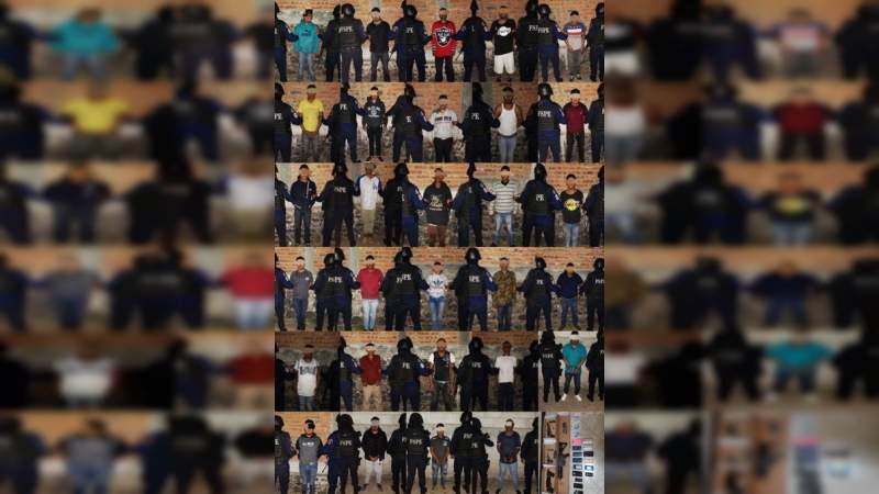 Detienen en Cortázar a 29 miembros del Cártel Santa Rosa de Lima: Caen líderes locales y jefe de sicarios