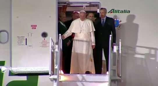 Arriba a México el Papa Francisco