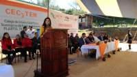 Araceli Saucedo y autoridades dan banderazo a construcción de techumbre en CECyTEM 19 Tzintzuntzan
