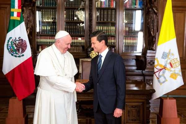 Visita del Papa refleja buena relación entre México y Santa Sede: Peña Nieto