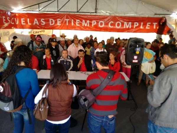 Antorchistas retiran plantón de Plaza Ocampo por visita papal