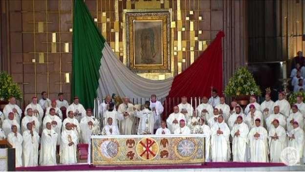 Inicia misa del Papa en la Basílica de Guadalupe