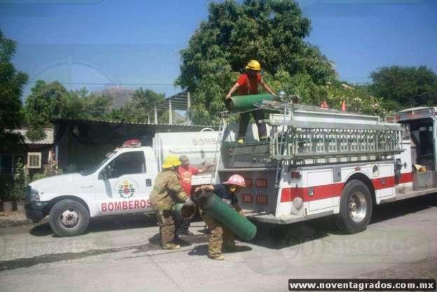 Se incendian cilindros de gas al interior de vivienda en Apatzingán, Michoacán; hay un lesionado