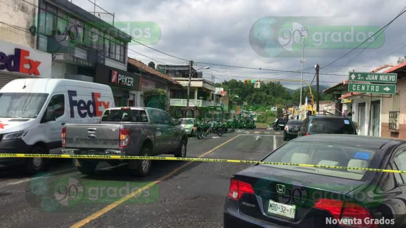 Presunta captura de 3 capos en Michoacán provoca enfrentamientos y bloqueos